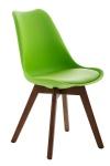 Jídelní / konferenční židle Borna podnož ořech, zelená