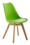 Jídelní / konferenční židle Borna podnož přírodní, zelená