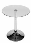 Jídelní stolek skleněný kulatý Houly, průměr 60 cm, výška 70cm