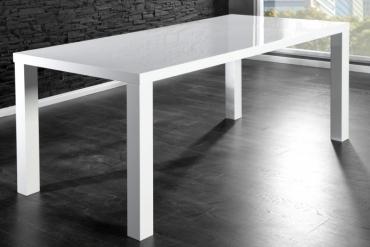 Jídelní stůl bílý Lucente 180 x 80 cm