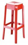 Plastová barová židle Tower, červená