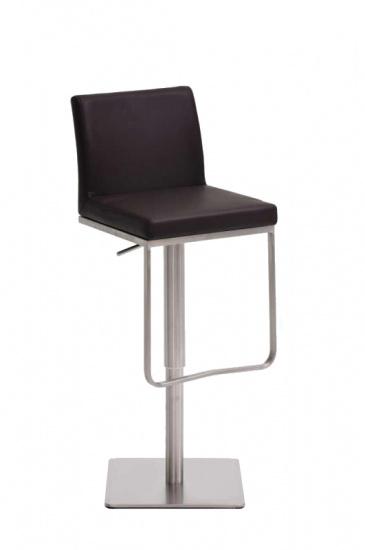 Barová židle Winnie, syntetická kůže, hnědá