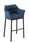 Barová židle Damaso látkový potah, modrá