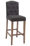 Barová židle Louise látkový potah, antik-světlá, tmavě šedá