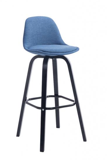 Barová židle Avika látkový potah, černá, modrá