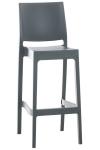 Barová židle Maya, tmavě šedá