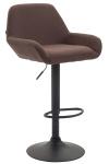 Barová židle Braga látkový potah, hnědá