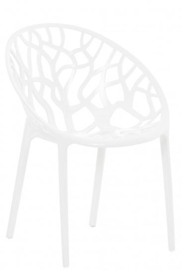 Židle stohovatelná CRYSTAL, bílá lesklá