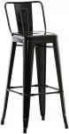 Barová židle Factory, černá