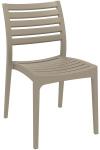 Plastová židle Ares, schlamm