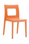Židle Lucca, oranžová