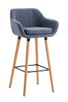 Barová židle Grant látkový potah, modrá