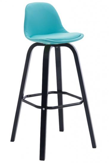 Barová židle Avika čalounění syntetická kůže, černá, modrá