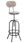 Barová židle Pino, dřevo, antik stříbrná