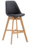 Barová židle Cannes syntetická kůže, přírodní, černá