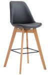 Barová židle Metz syntetická kůže, přírodní, černá