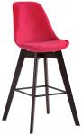 Barová židle Metz samet cappuccino, červená