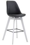 Barová židle Metz syntetická kůže, bílá, černá
