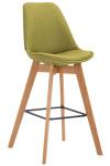 Barová židle Metz látkový potah, přírodní, zelená