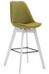 Barová židle Metz látkový potah, bílá, zelená