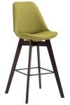 Barová židle Metz látkový potah, Cappuccino, zelená