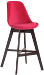 Barová židle Cannes samet cappuccino, červená