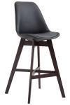 Barová židle Cannes syntetická kůže, Cappuccino, černá