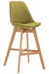 Barová židle Cannes látkový potah, přírodní, zelená