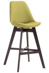 Barová židle Cannes látkový potah, Cappuccino, zelená