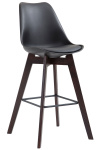 Barová židle Metz plast Cappuccino, černá