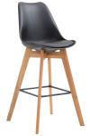Barová židle Metz plast přírodní, černá
