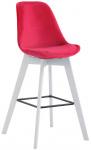 Barová židle Metz samet bílá, červená