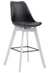 Barová židle Metz plast bílá, černá