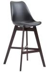 Barová židle Cannes plast Cappuccino, černá