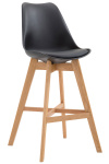Barová židle Cannes plast přírodní, černá