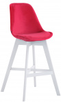 Barová židle Cannes samet bílá, červená