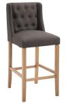 Barová židle Cassandra látkový potah, Antik-světlá, tmavě šedá