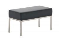 Dvoumístná lavice Lamega 40x80, černá