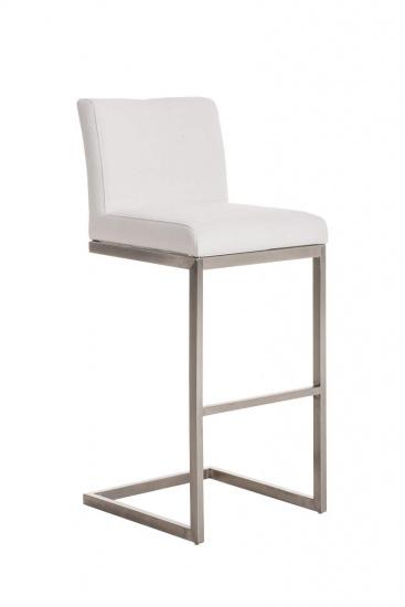 Barová židle Taje látkový potah, bílá