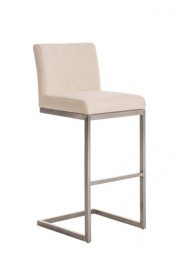 Barová židle Taje látkový potah, krémová