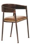 Bistro židle Belvedere, dřevo, bronzová