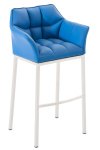 Barová židle Damaso bílá, modrá