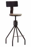 Barová židle Elko, bronzová