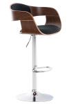Barová židle Kingston látkový potah, ořech/černá
