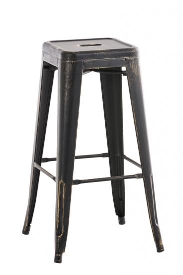 Barová židle Factory antik, černá-zlatá
