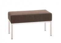 Dvoumístná lavice Lamega 40x80 látkový potah, hnědá