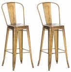 2 ks / set barová židle Factory, zlatá