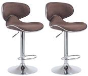 2 ks / set barová židle Las Vegas V2 látkový potah, hnědá