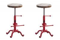 2 ks / set barová židle Carson, červená