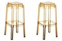 2 ks / set barová židle Fox, transparent, bernstein
